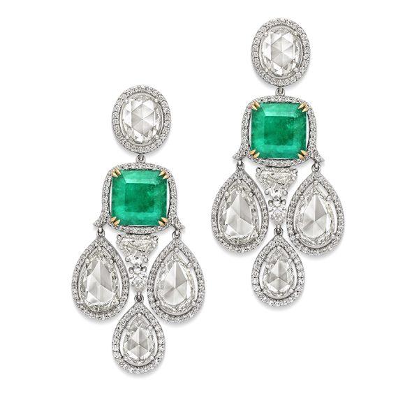 Dew Drop Emerald Earrings