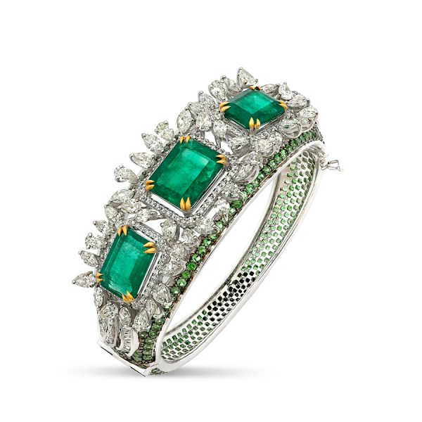 Classic Emerald & Diamond Bracelet