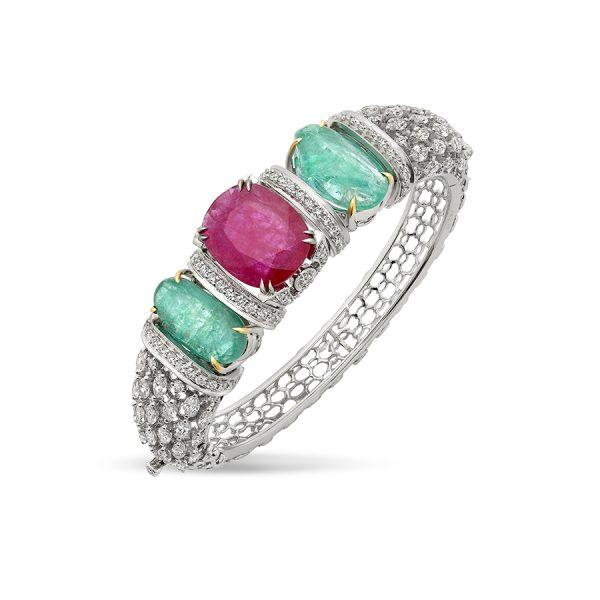 Emerald Ruby Bala Bracelet