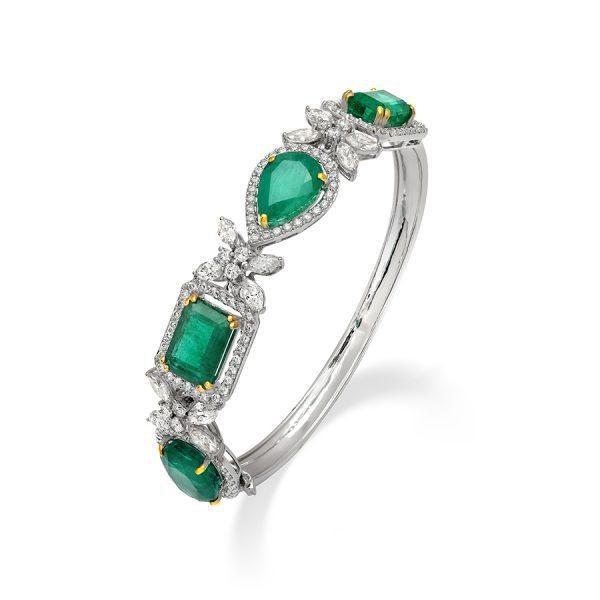 Signature Emerald & Diamond Bracelet