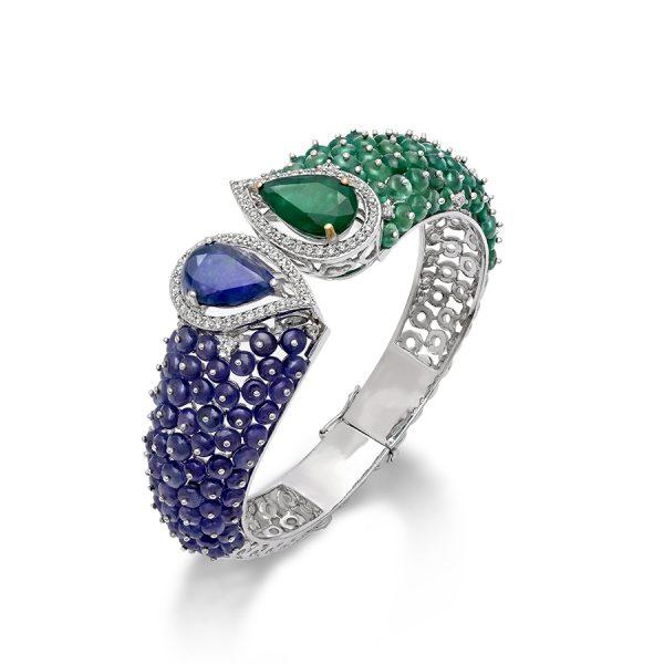 Signature Emerald Tanzanite Bracelet