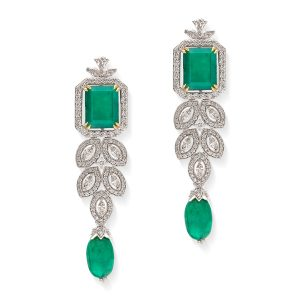 Signature Emerald & Diamond Earrings