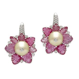 Floral and Pearl Fantasy Earrings