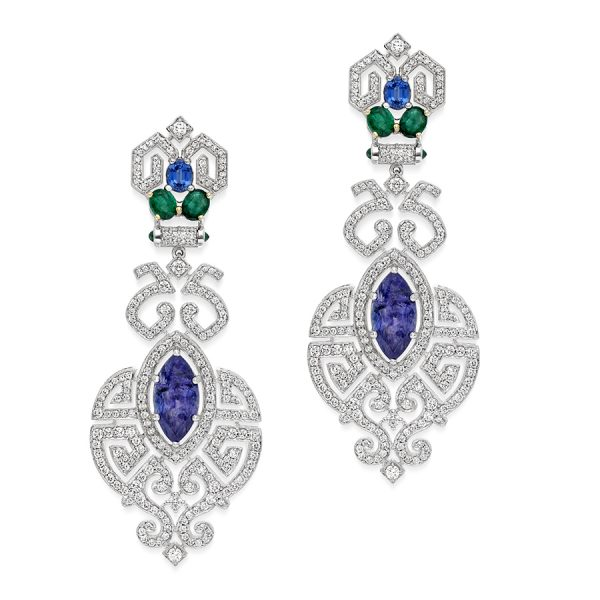 Art Deco Marquise Earrings
