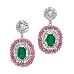 Emerald & Ruby Earrings