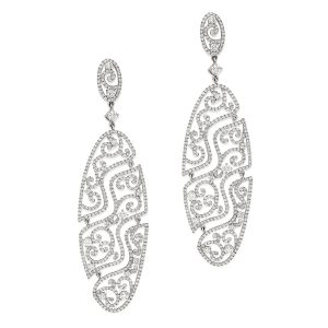Art Deco Filigree Earrings