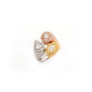Trilogy Fancy Shaped Diamond Ring