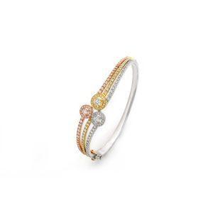 Studded Trilogy Cuff Bracelet