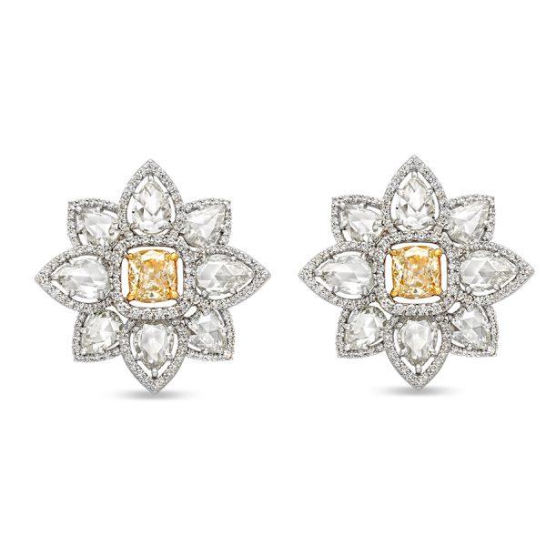 Golden Iris Diamond Earring