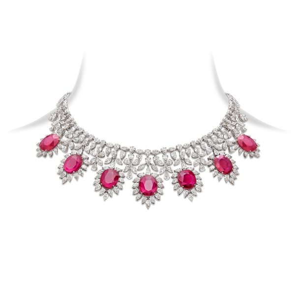 Classic Ruby & Diamond Necklace