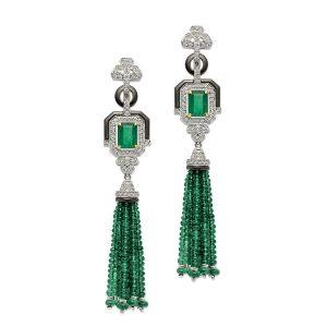 Emerald Diamond Flair Earrings