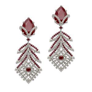 Ruby & Diamond Chandelier Earrings