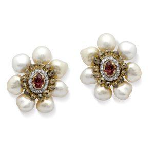 Ruby & Diamond Reef Fantasia Studs Earrings