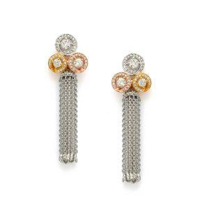 Trilogy Tassel Diamond Earrings