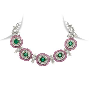 Emerald, Ruby & Diamond Bracelet/Choker