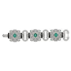 Art Deco Statement Diamond Bracelet
