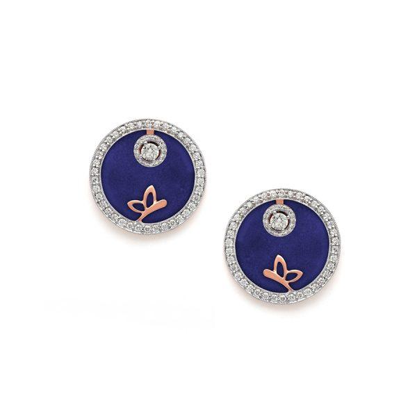 Butterfly Medallion Diamond Earrings