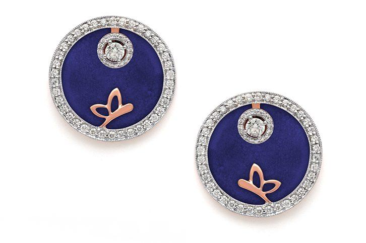 Butterfly Medallion Diamond Earring