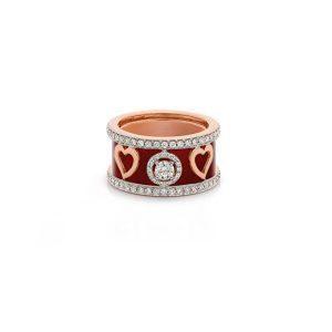 Heart Diamond Big Band Ring