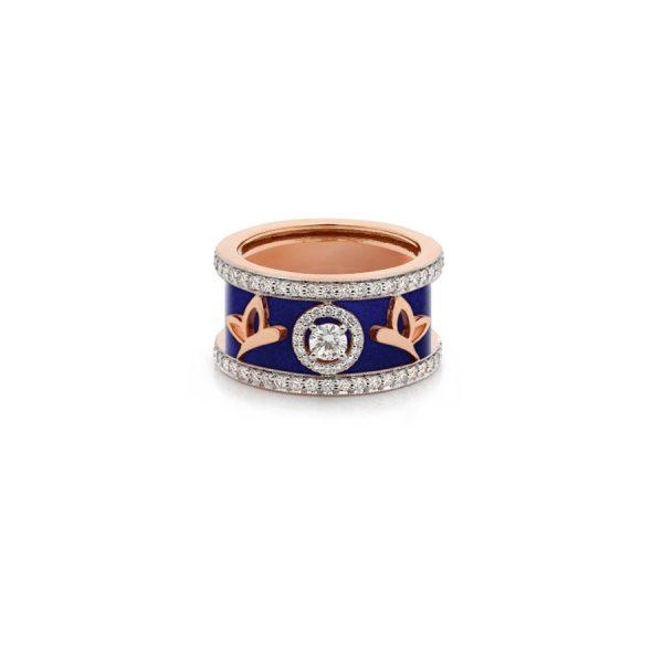 Butterfly Diamond Big Band Ring