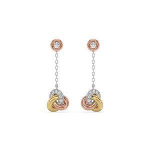 Knot Hanging Diamond Earrings