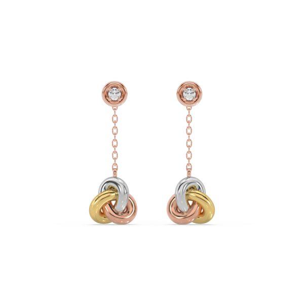 Luxury Knot Hanging Diamond Earrings