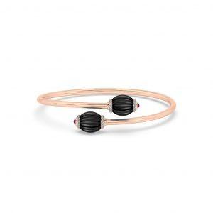 Black Onyx Ruby & Diamond Bracelet