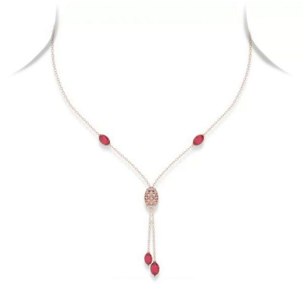 Ruby & Diamond Filigree Sautoir