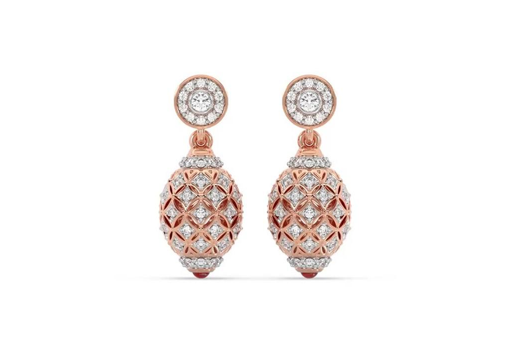 Diamond Filigree Hanging Earrings