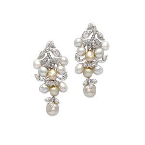 Keshi Pearl Leaf Earring