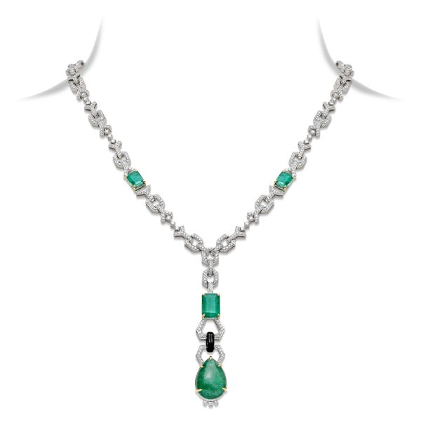 Art Deco Emerald Pendant