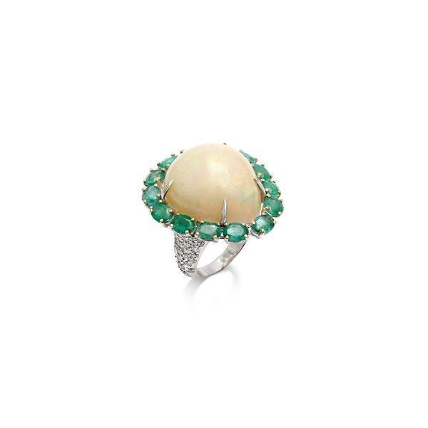 Sunrise Opal Ring