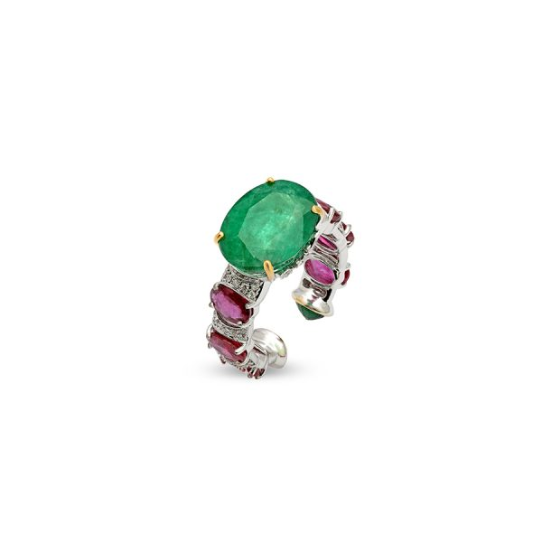 Emerald Ruby Ring
