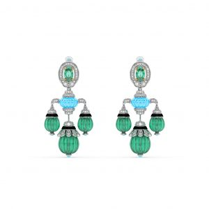 Turquoise Emerald Drop Earrings