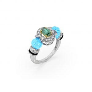 Turquoise Emerald Ring