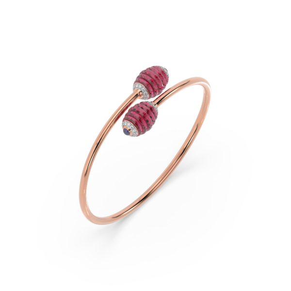 Ruby Disk Bracelet