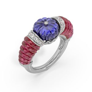 Ruby Tanzanite Ring