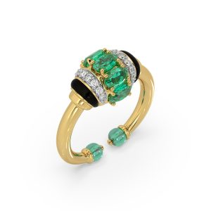 Tanzanite Emerald Ring