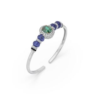 Tanzanite Emerald Bracelet