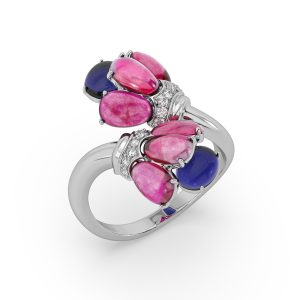 Ruby and Tanzanite Bloom Ring