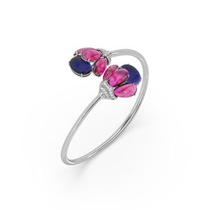 Ruby and Tanzanite Bloom Spring Bracelet