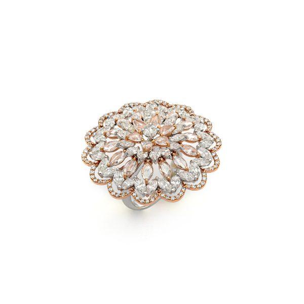 Rose Cut Diamond Kaleidoscope Ring