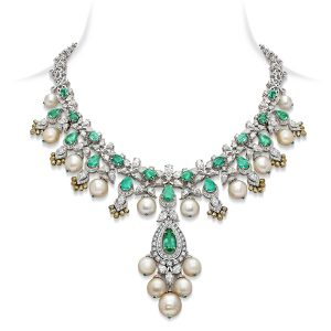 Emerald Drop Bridal Necklace