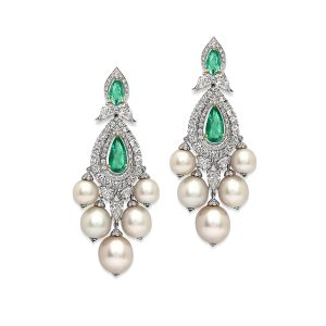 Emerald Drop Bridal Earrings