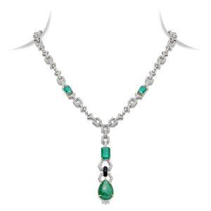 Art Deco Emerald Pendant