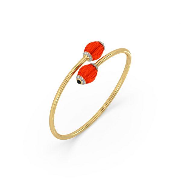 Coral Diamond Bracelet