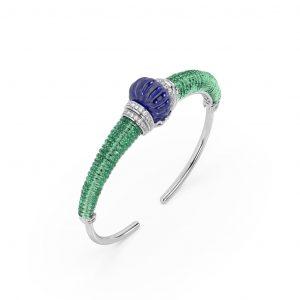 Chalcedony Tanzanite Diamond Bracelet